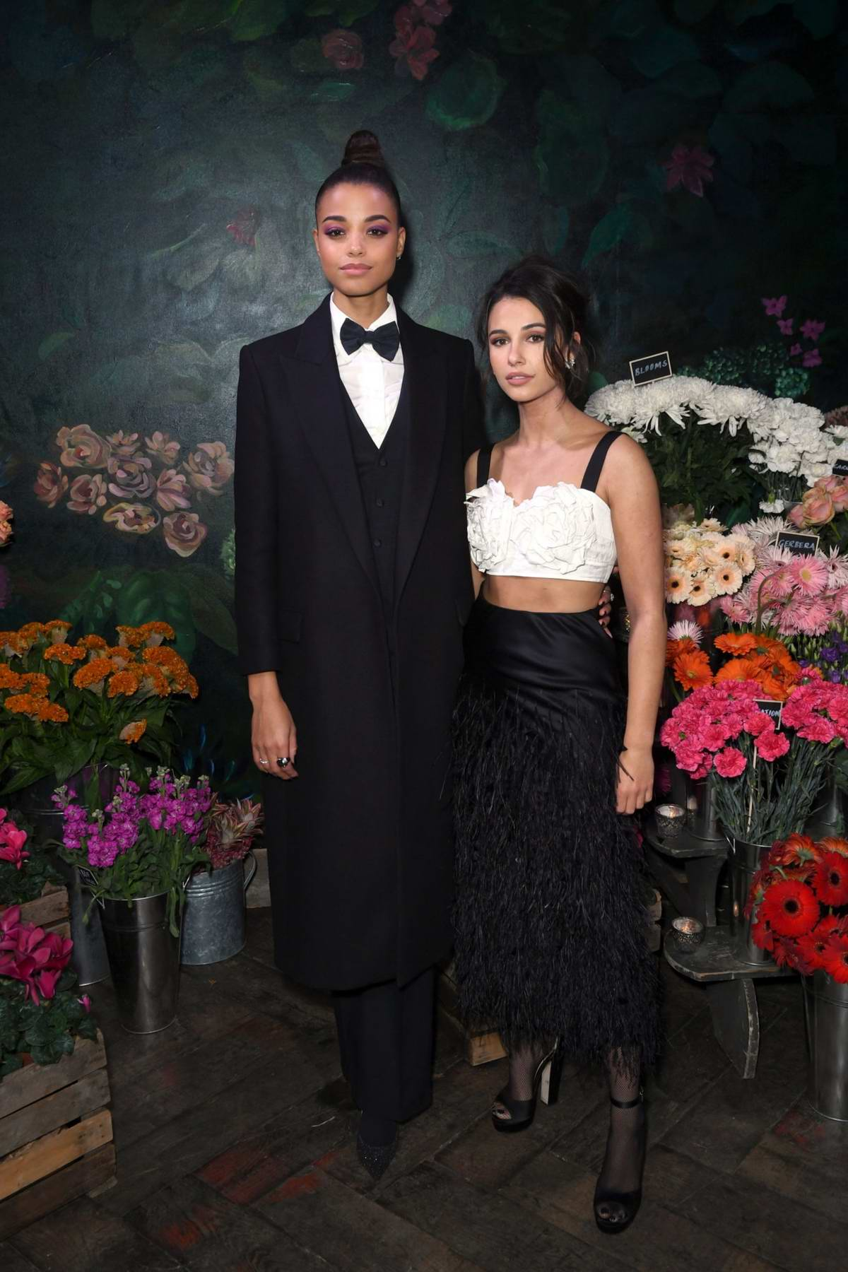 Naomi Scott and Ella Balinska attend The Business of Fashion Presents VOICES 2019 Gala Dinner in London, UK