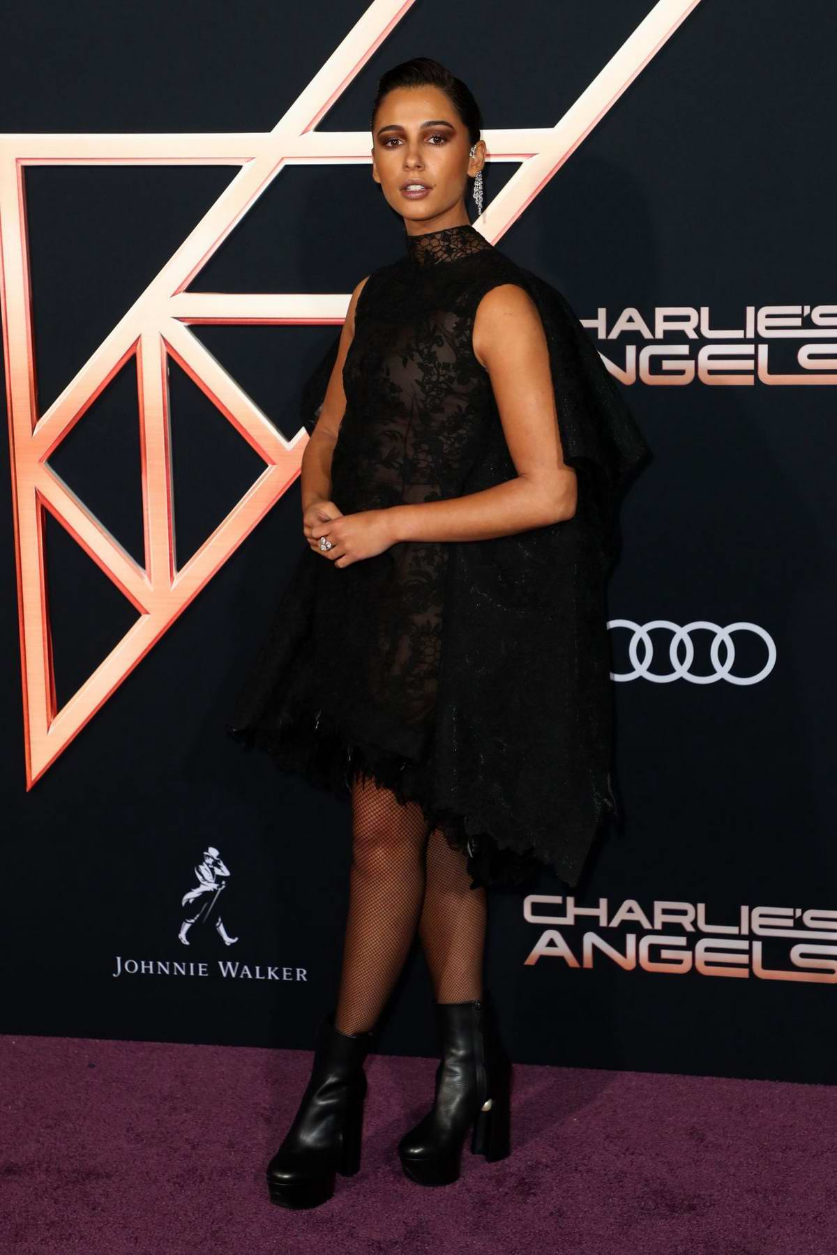 Naomi Scott attends the Premiere of 'Charlie's Angels' at Westwood Regency Theater in Los Angeles