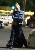 Natalie Dormer goes out for dinner with her boyfriend David Oakes and a group of friends in Los Angeles