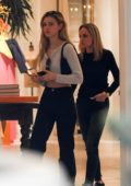 Nicola Peltz getting some shopping done at Yves Saint Laurent with her mother in Beverly Hills, Los Angeles