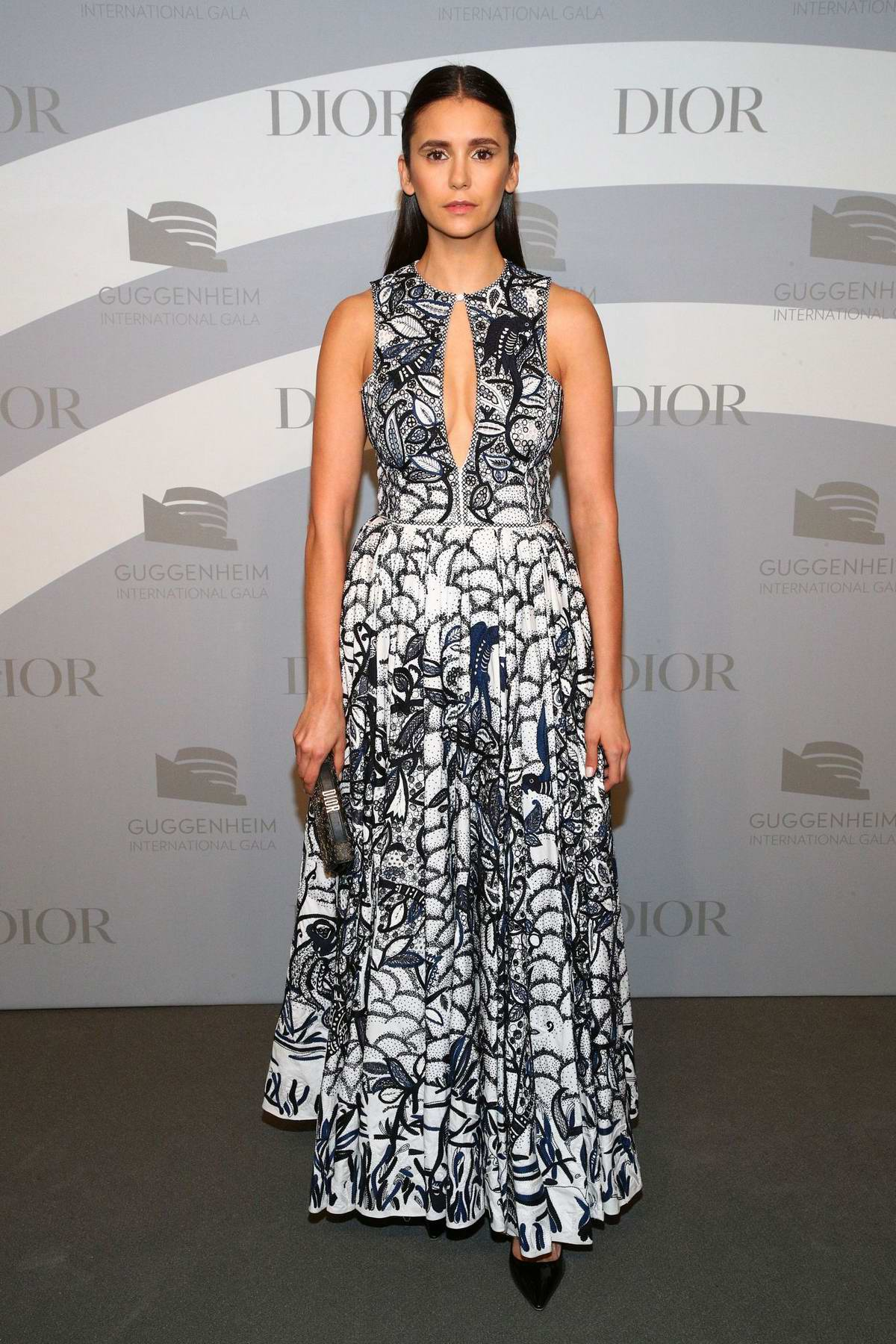 Nina Dobrev attends the 2019 Guggenheim International Gala in New York City