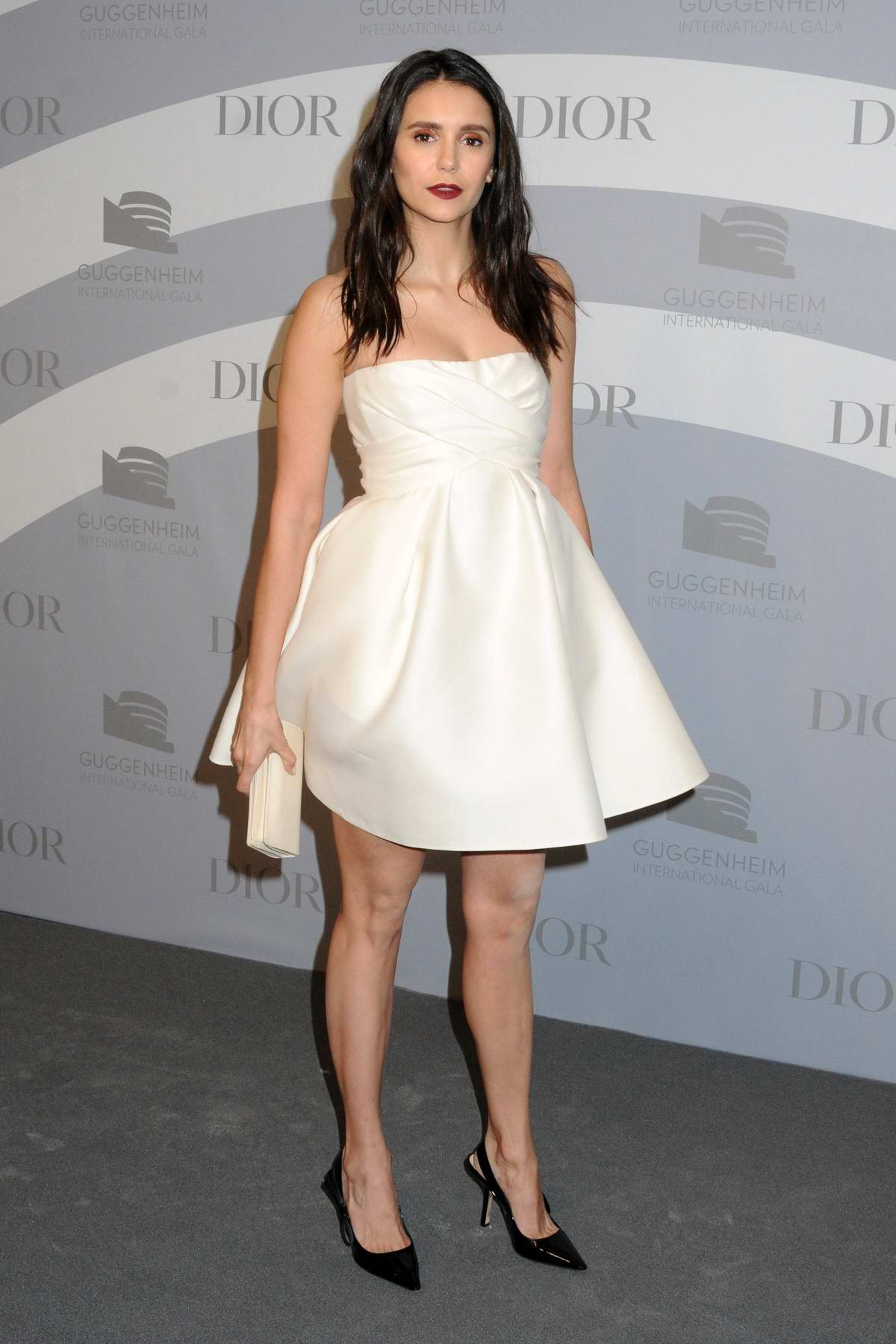 Nina Dobrev attends the Guggenheim International Gala at The Guggenheim in New York City