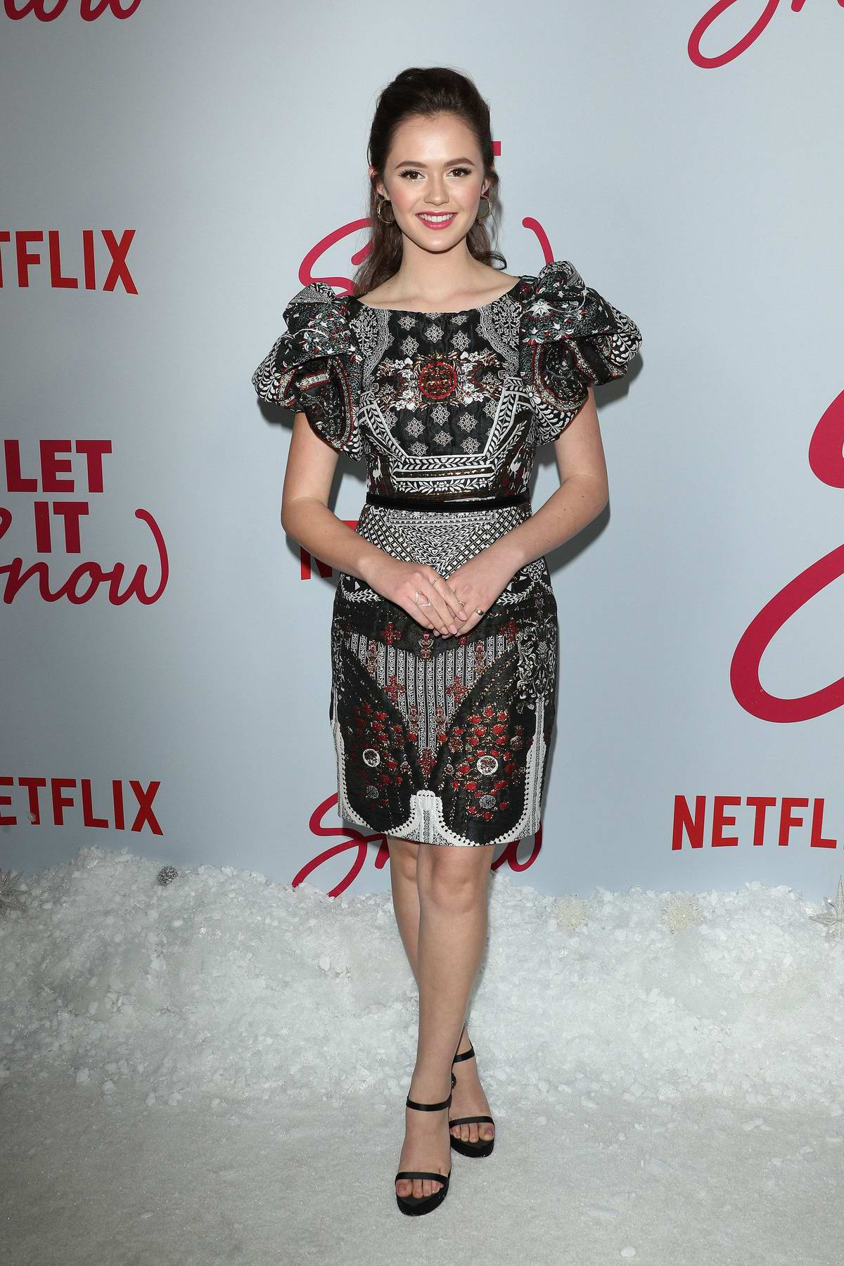 Olivia Sanabia attends the Premiere of Netflix's 'Let It Snow' in Los Angeles