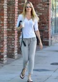 Paige Butcher dressed in casuals as she leaves a nail salon in Los Angeles