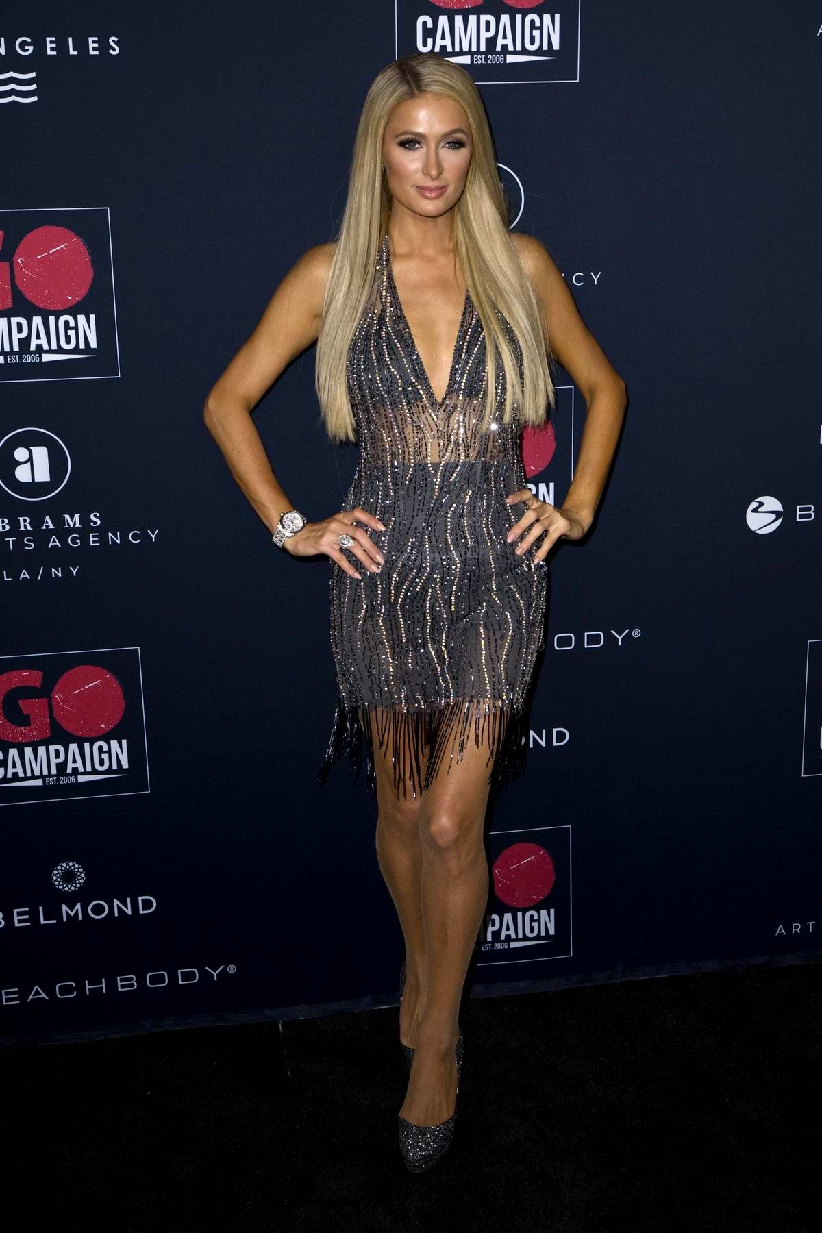 Paris Hilton attends the GO Campaign's 13th Annual Gala at NeueHouse in Hollywood, California