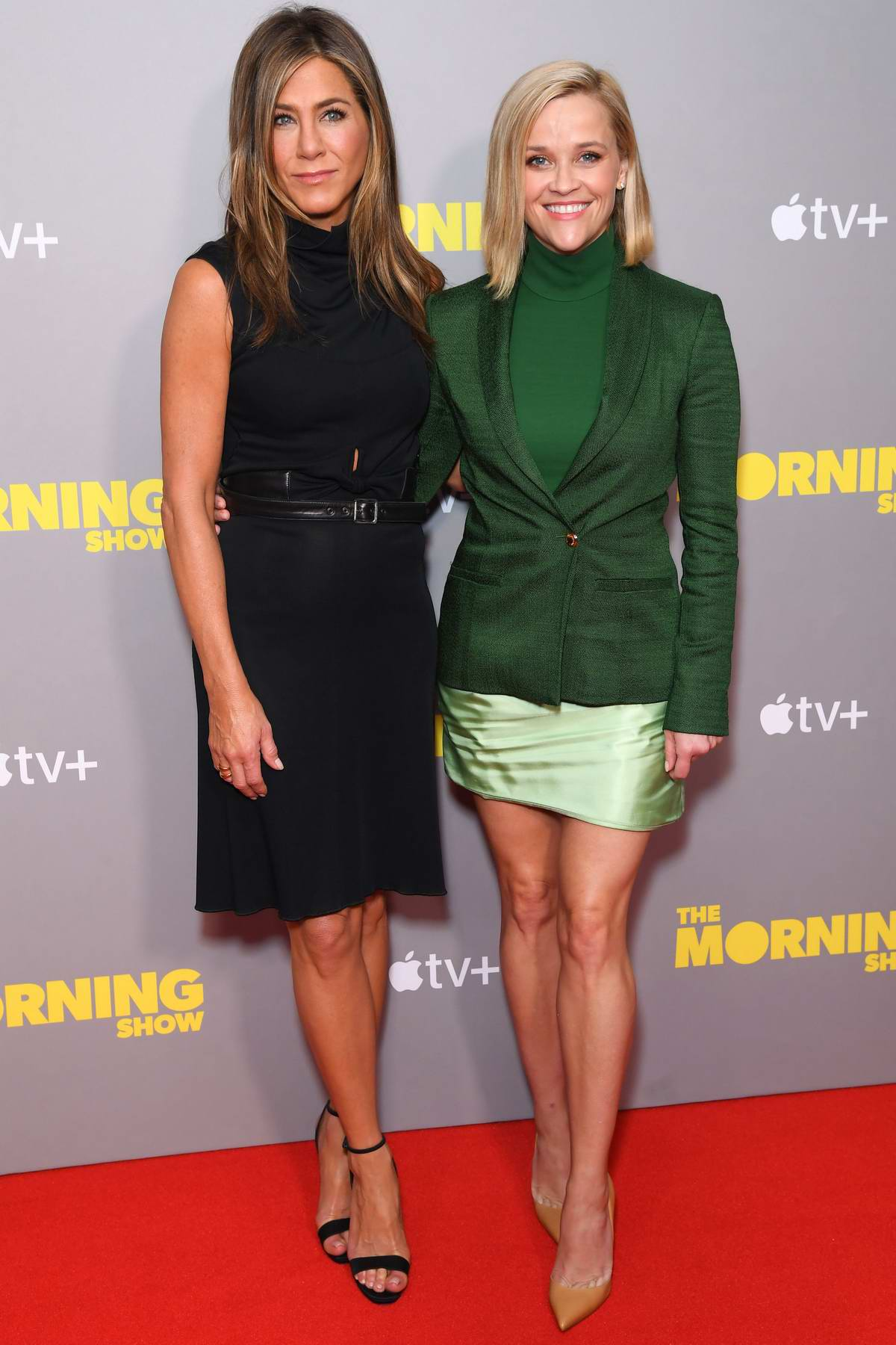 Reese Witherspoon and Jennifer Aniston attend a screening of Apple TV+'s 'The Morning Show' in London, UK