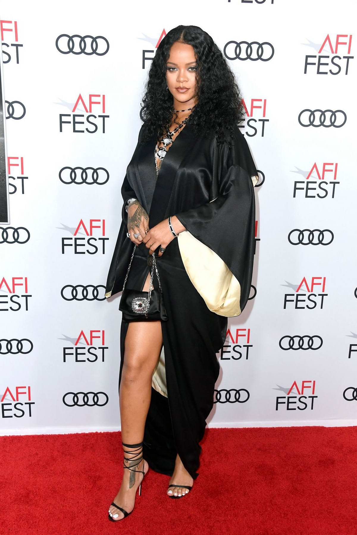 Rihanna attends 'Queen & Slim' Premiere at AFI Fest in Hollywood, California