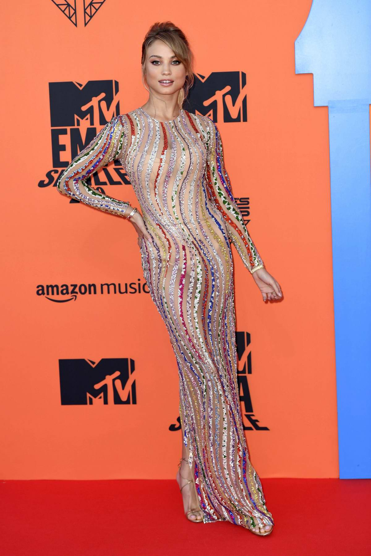 Rose Bertram attends the MTV European Music Awards 2019 at FIBES Conference and Exhibition Centre in Seville, Spain