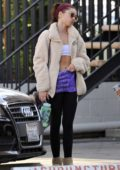 Sarah Hyland shows off her abs after pilates workout in Studio City, Los Angeles