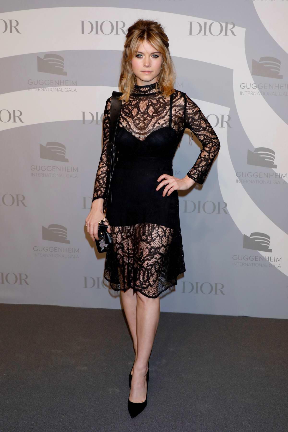 Sarah Jones attends the Guggenheim International Gala at The Guggenheim in New York City