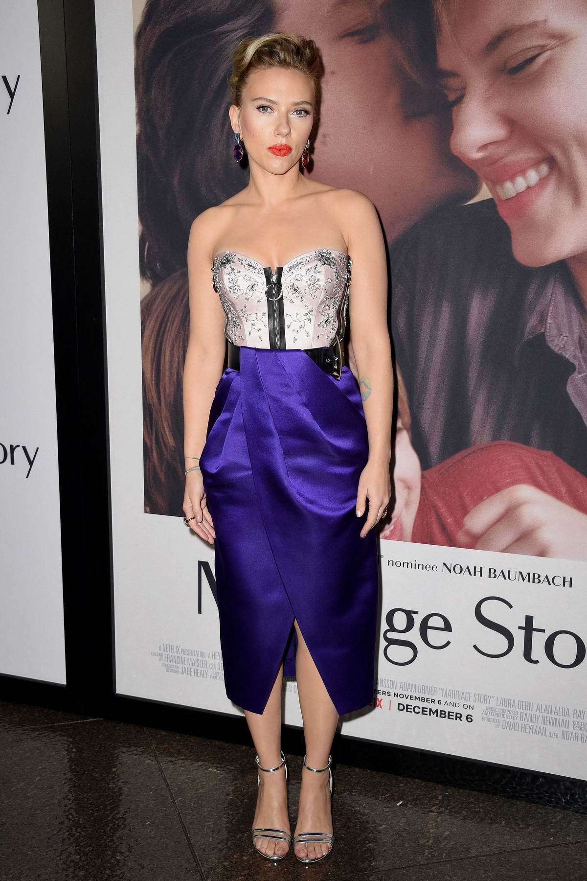 Scarlett Johansson attends the Premiere of Netflix's 'Marriage Story' at DGA Theater in Los Angeles