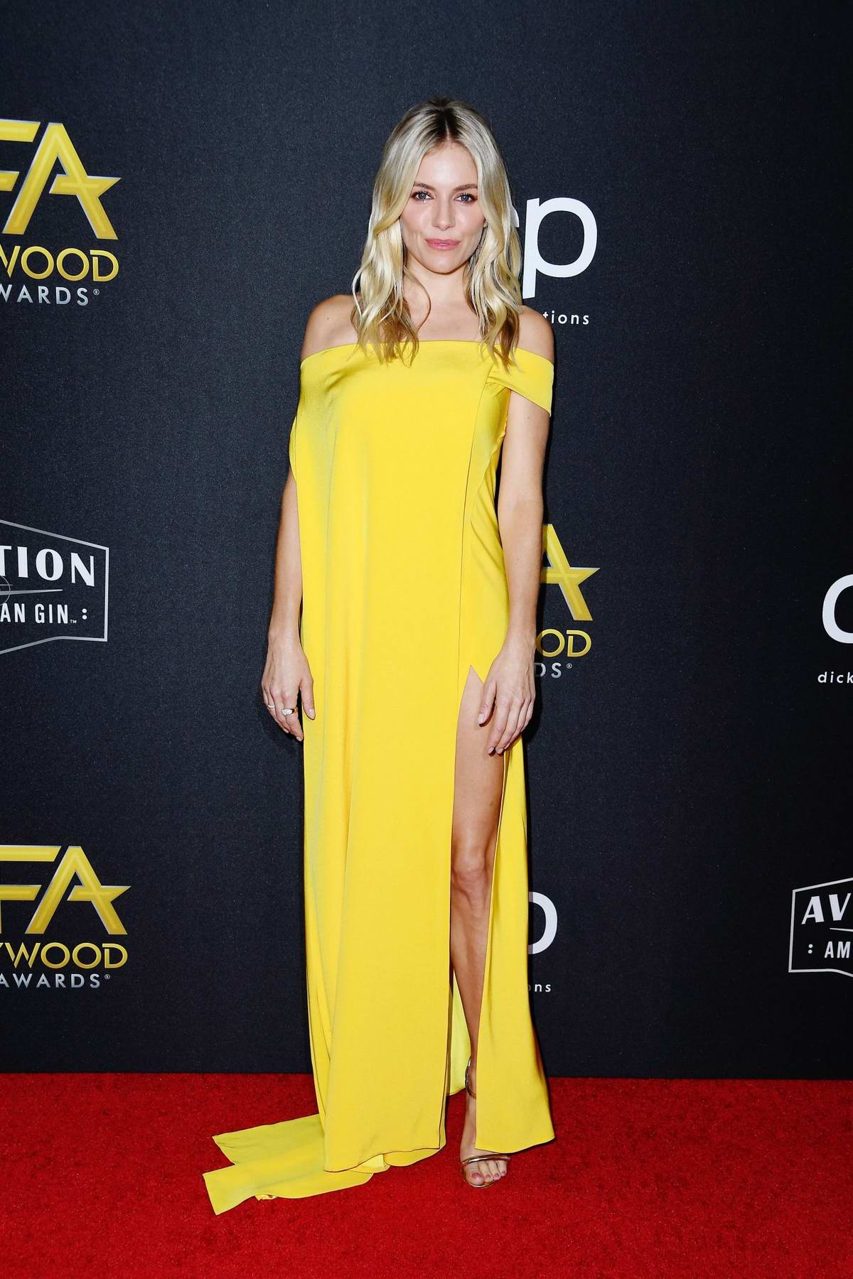 Sienna Miller attends the 23rd Annual Hollywood Film Awards at The Beverly Hilton Hotel in Beverly Hills, Los Angeles