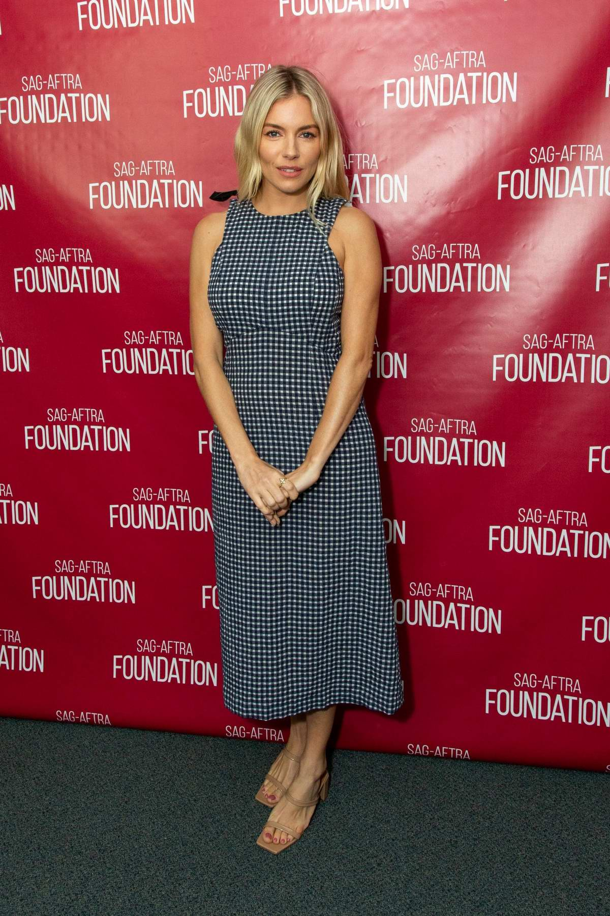 Sienna Miller attends the SAG-AFTRA Foundation Conversations with American Woman in Los Angeles