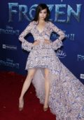 Sofia Carson attends the Premiere of Disney's 'Frozen 2' at Dolby Theatre in Hollywood, California