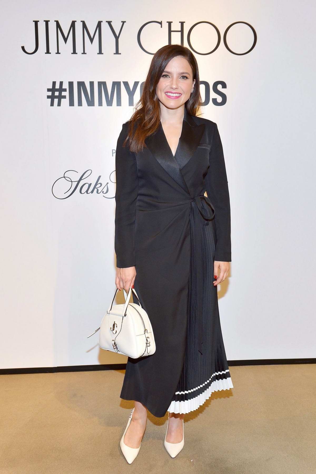 Sophia Bush attends Saks Beverly Hills 'In My Choos' event in Beverly Hills, Los Angeles
