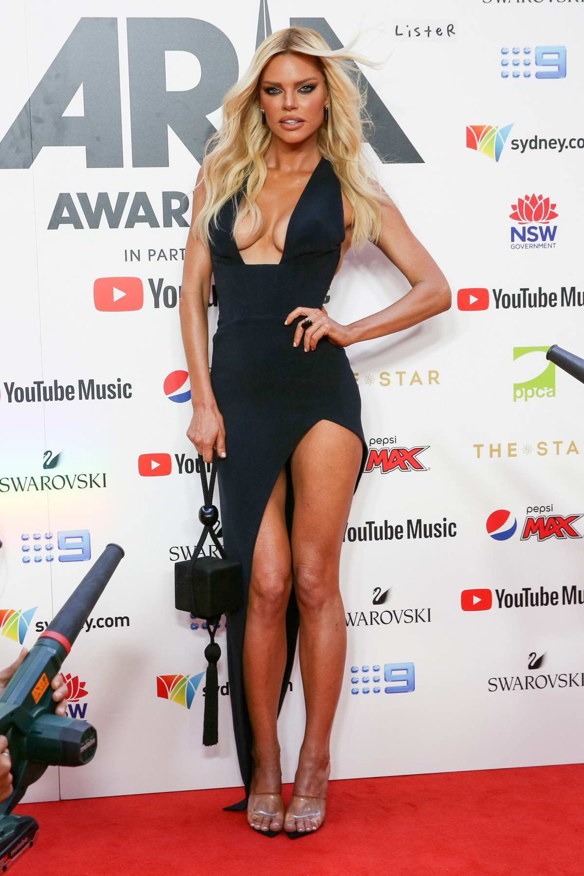 Sophie Monk attends the 33rd Annual Aria Awards at the Star in Sydney, Australia