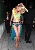 Stella Maxwell dressed as Britney Spears attends Drake's Halloween party at Delilah in Los Angeles