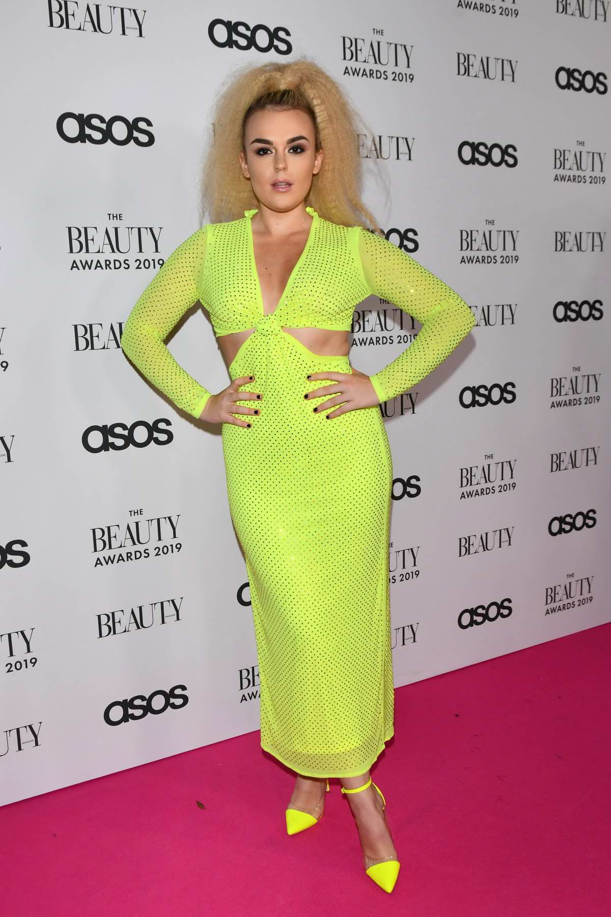 Tallia Storm attends The Beauty Awards 2019 with ASOS at City Central in London, UK