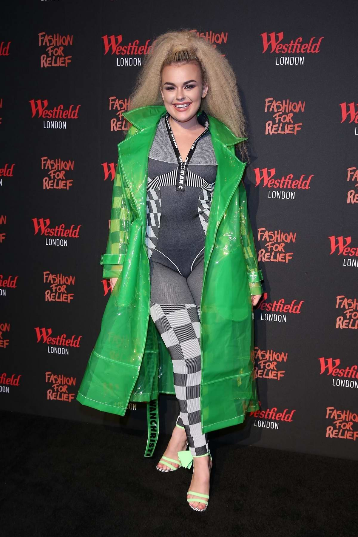 Tallia Storm attends the Fashion For Relief pop-up store at Westfield London in London, UK