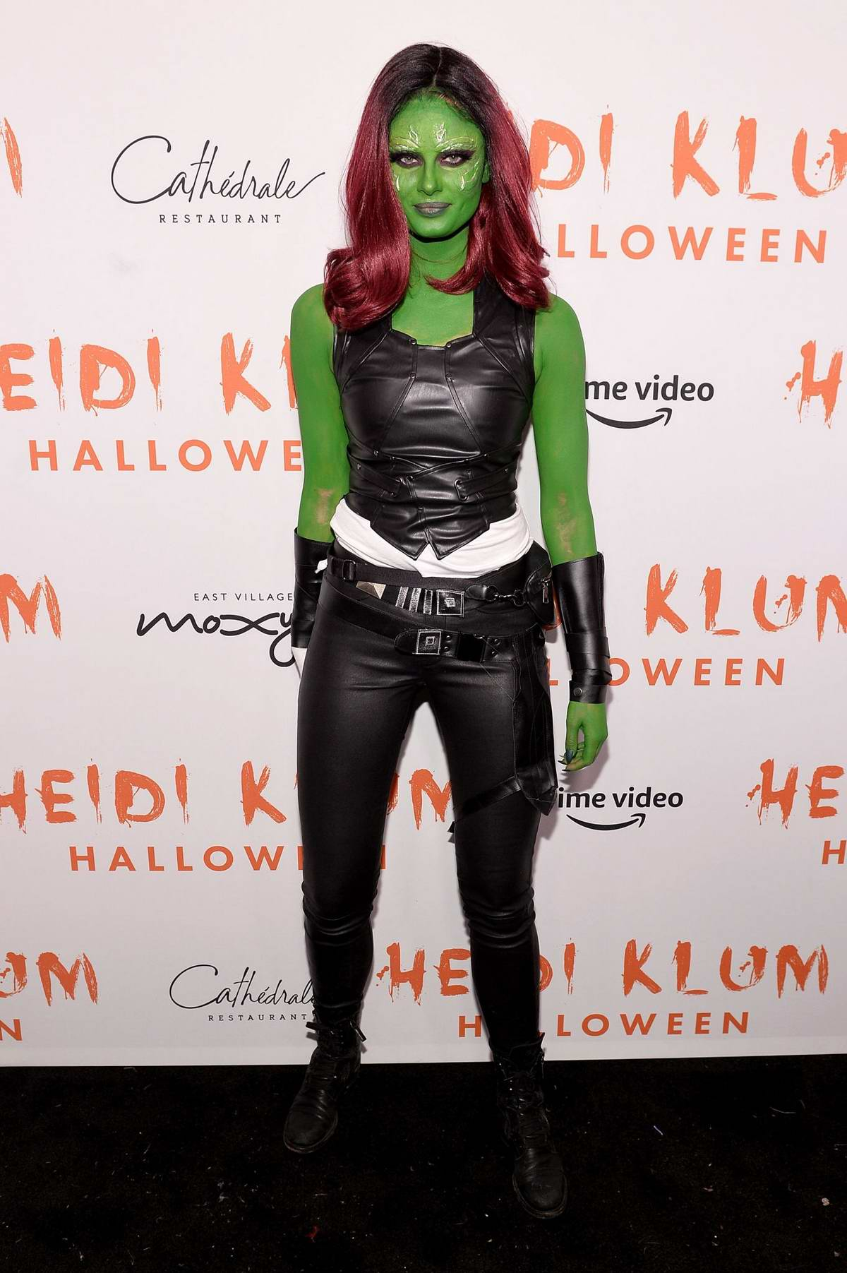 Taylor Hill attends Heidi Klum's 20th Annual Halloween Party at Cathédrale Restaurant in New York City