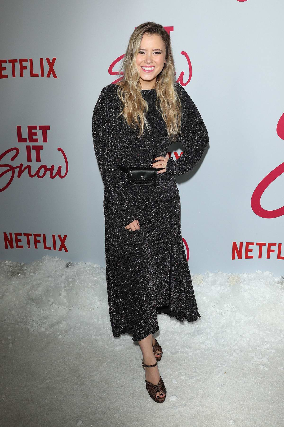 Taylor Spreitler attends the Premiere of Netflix's 'Let It Snow' in Los Angeles