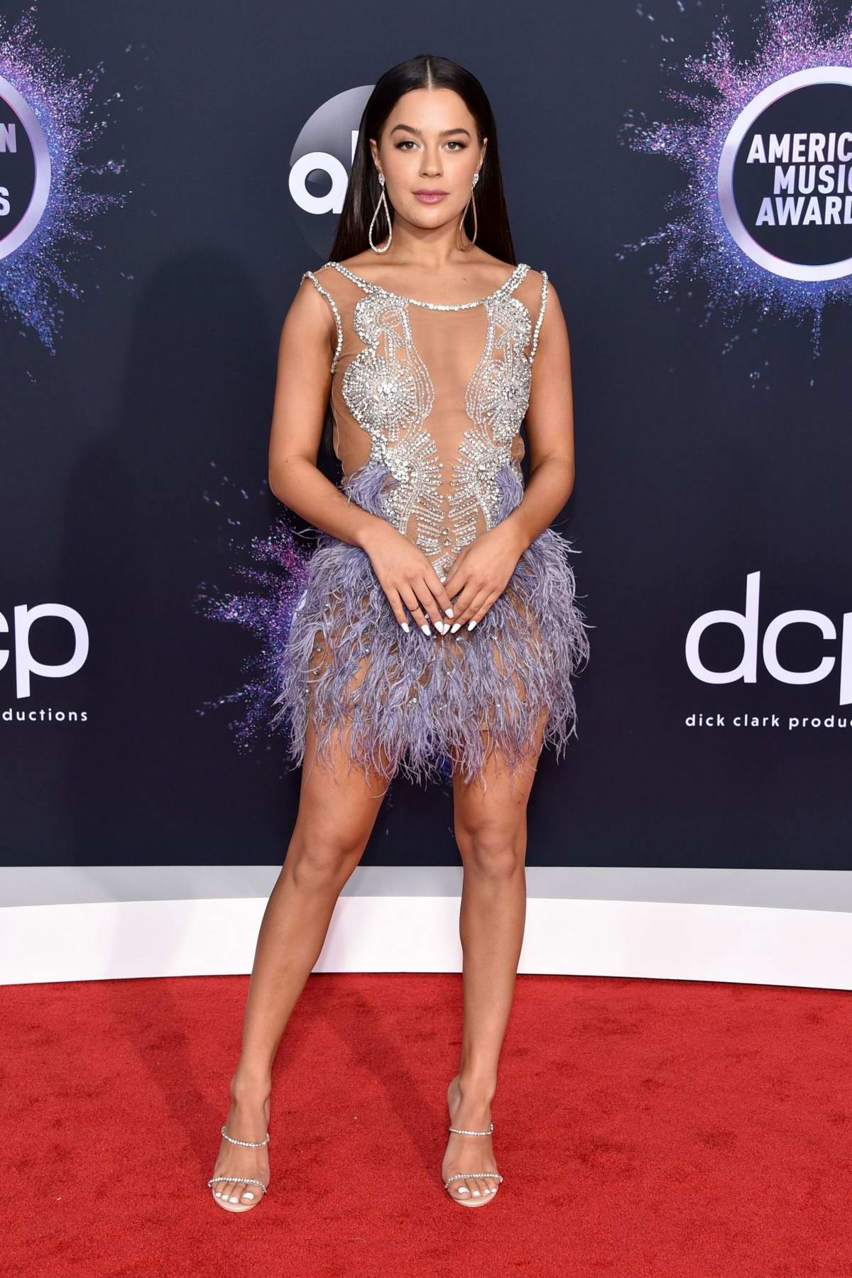 Tessa Brooks attends the 2019 American Music Awards at Microsoft Theater in Los Angeles