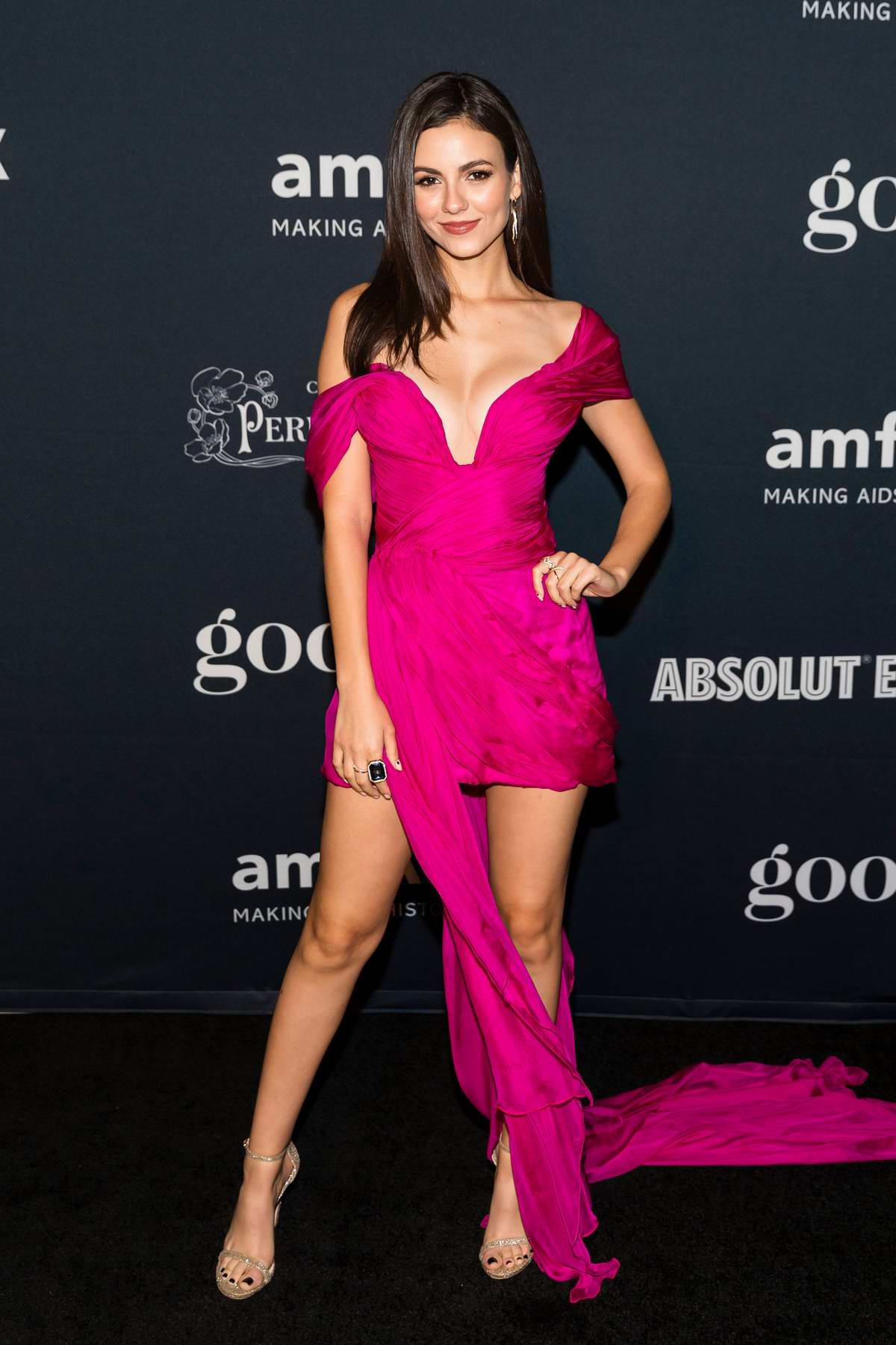 Victoria Justice attends the amfAR Charity Poker Tournament And Game Night in San Francisco, California