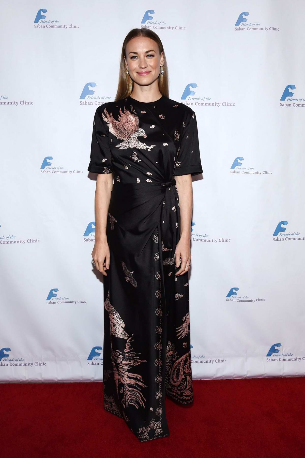 Yvonne Strahovski attends Saban Community Clinic's 43rd Annual Dinner Gala at The Beverly Hilton Hotel in Los Angeles