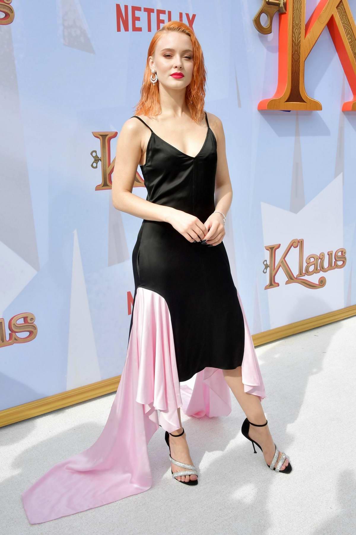 Zara Larsson attends the premiere of Netflix's 'Klaus' at Regency Village Theatre in Westwood, California