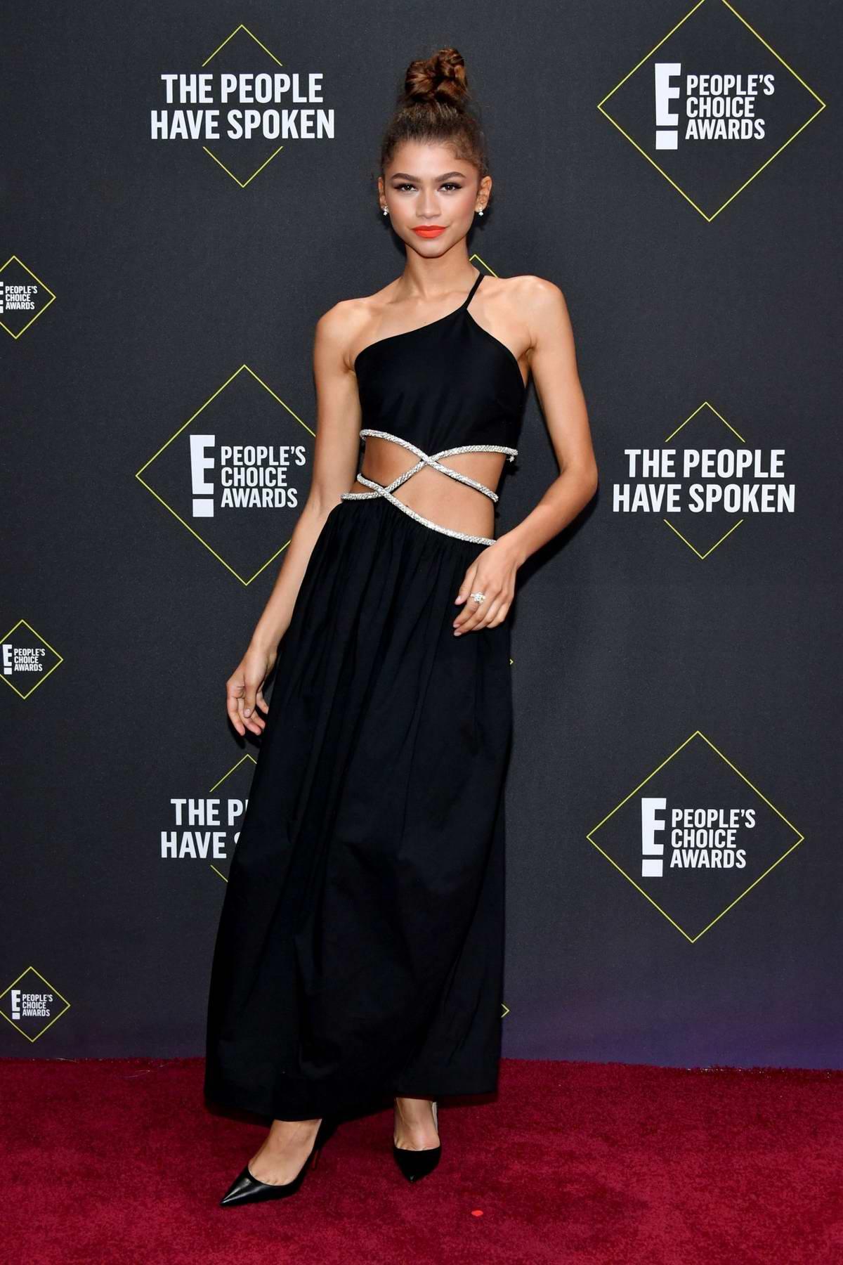 Zendaya attends the 2019 E! People's Choice Awards held at the Barker Hangar in Santa Monica, California