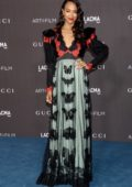 Zoe Saldana attends the 2019 LACMA 2019 Art + Film Gala in Los Angeles