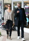 Alessandra Ambrosio steps out for a sushi lunch with a friend in West Hollywood, Los Angeles