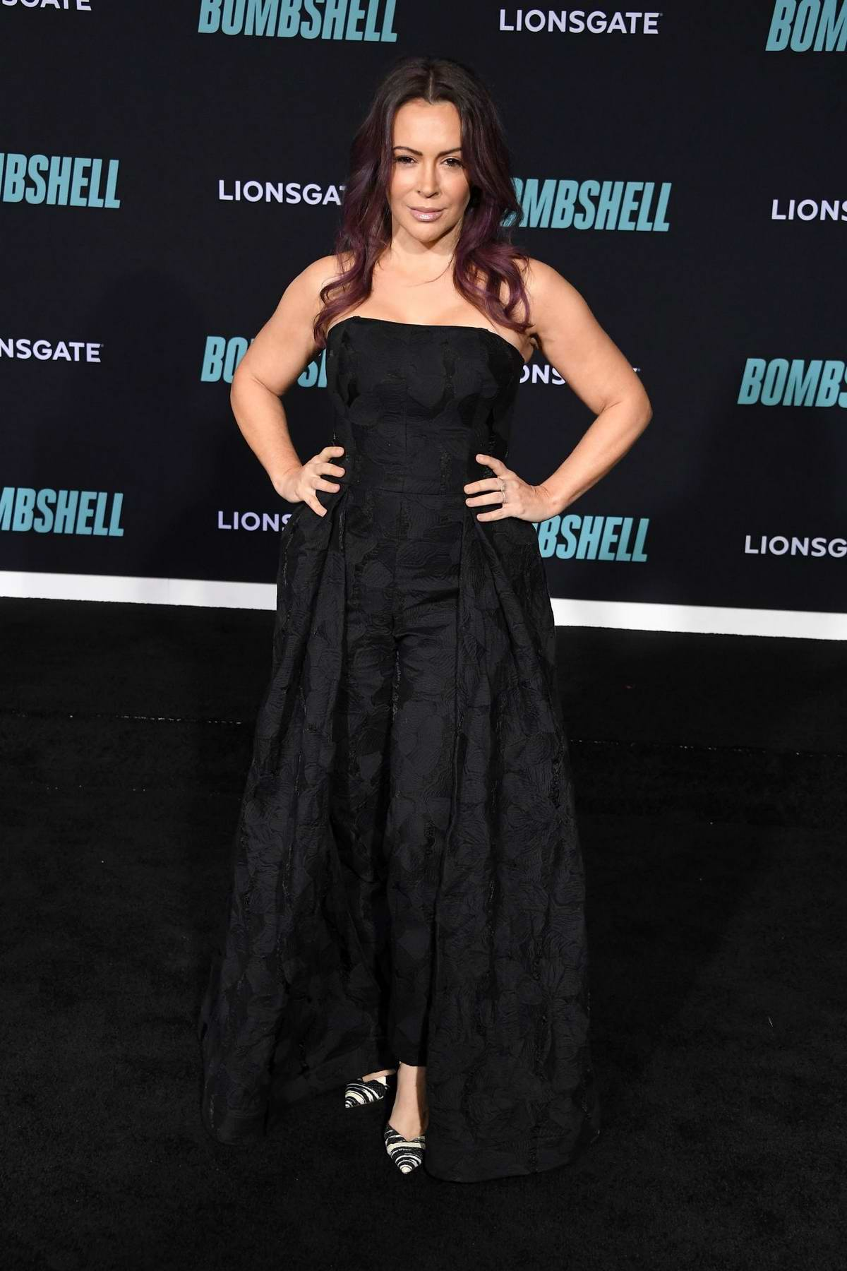 Alyssa Milano attends a special screening of Bombshell in Westwood, California