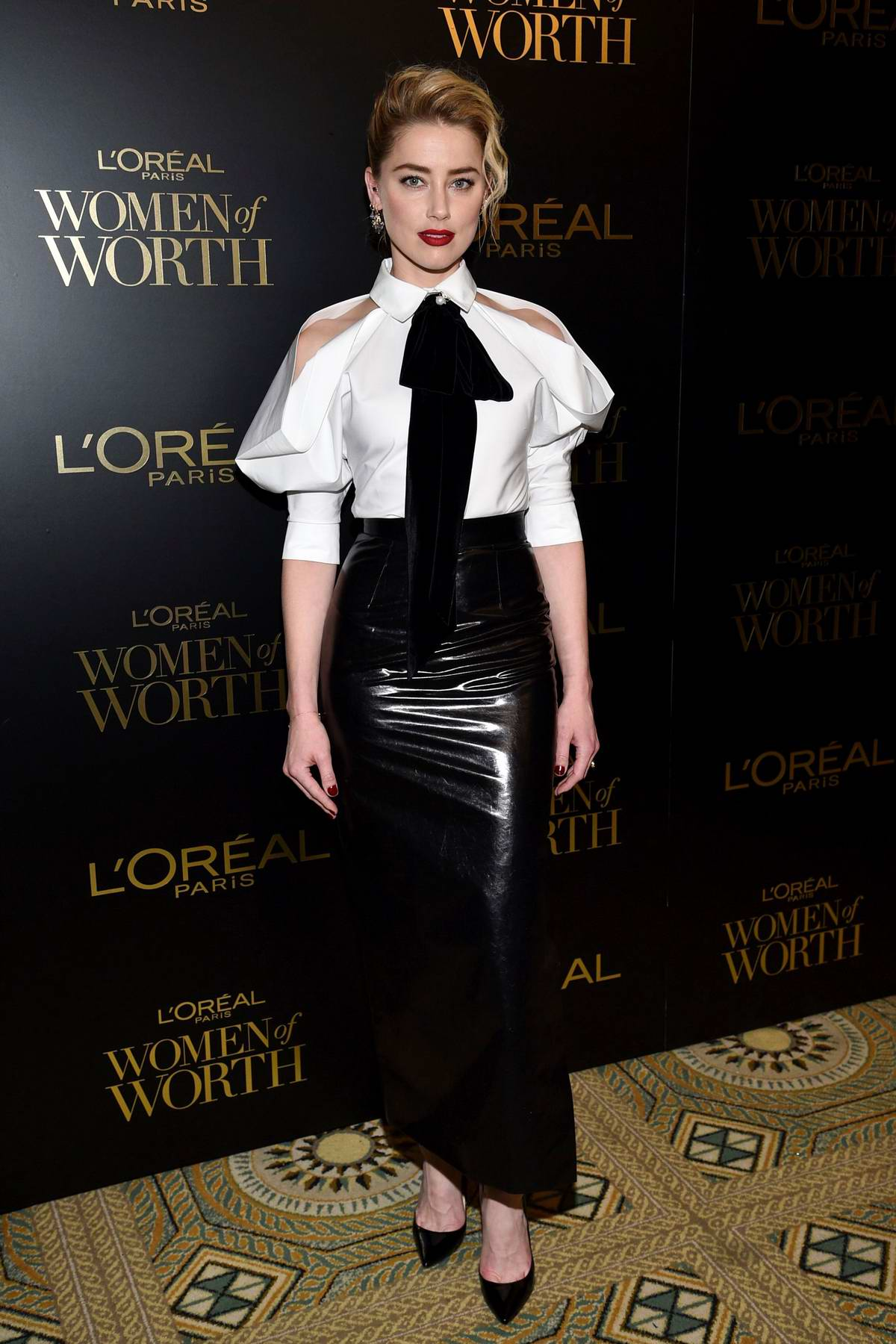Amber Heard attends the 14th Annual L'Oreal Paris Women Of Worth Awards in New York City