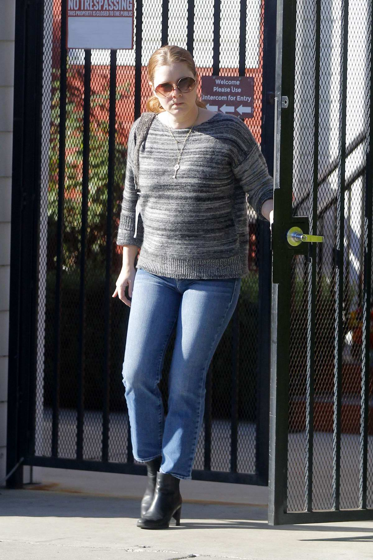 Amy Adams spotted while visiting her friend in Beverly Hills, California