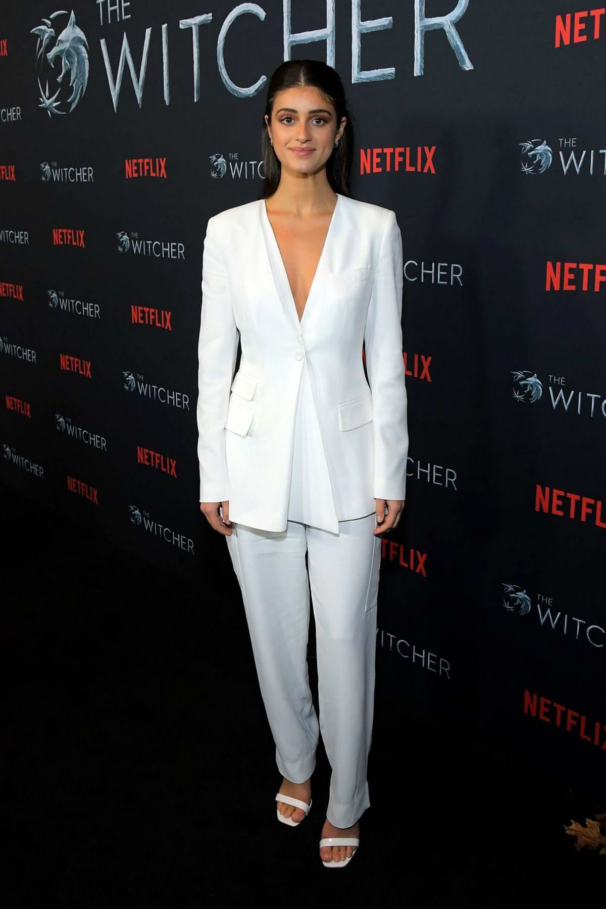 Anya Chalotra attends 'The Witcher' Photocall in Hollywood, California