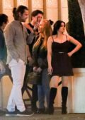 Ariel Winter and Luke Benward enjoy a date night with friends at Delilah in West Hollywood, Los Angeles