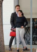 Ariel Winter is all smiles as she leaves after lunch with a friend at Joan's On Third in Los Angeles