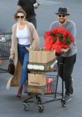 Ashley Greene and Paul Khoury step out for some grocery shopping at Pavilions in West Hollywood, Los Angeles