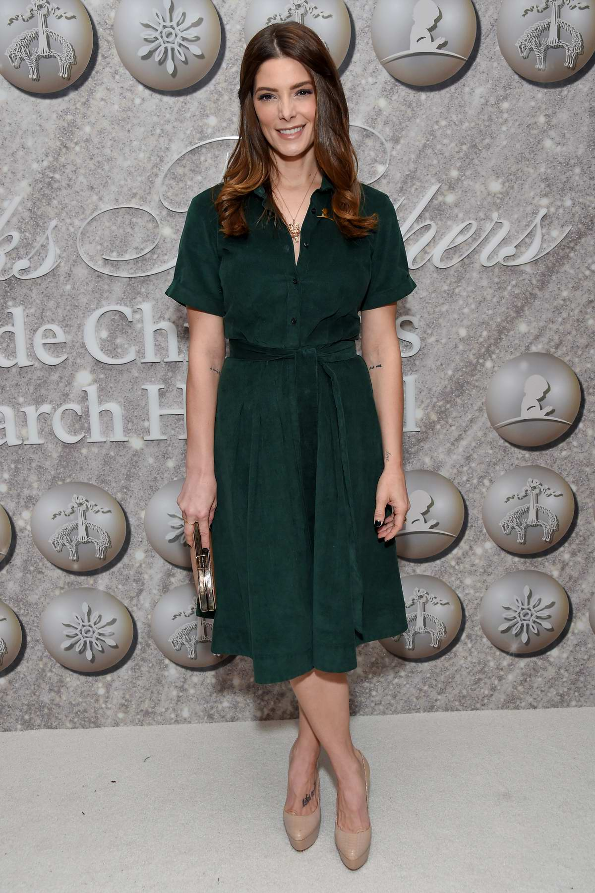 Ashley Greene attends Brooks Brothers Holiday Celebration honoring St. Jude in West Hollywood, Los Angeles