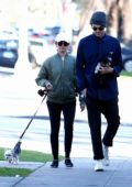Ashley Tisdale and husband Christopher French walk their pups on sunny afternoon in Los Feliz, California