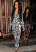 Bella Hadid rocks a Dior ensemble as she leaves after dinner at Swan in Miami, Florida