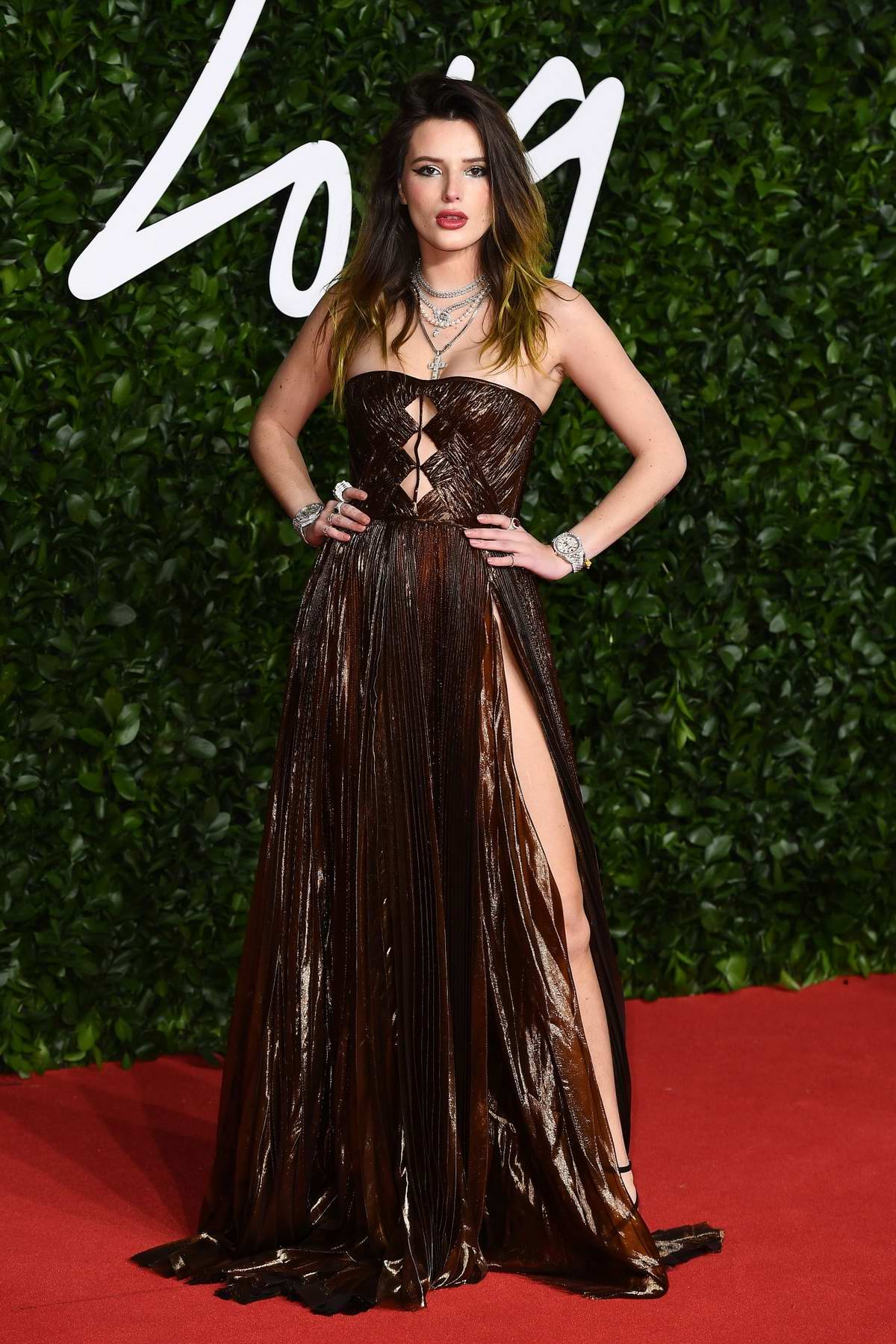 Bella Thorne attends The Fashion Awards 2019 held at Royal Albert Hall in London, UK