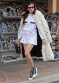 Blanca Blanco flaunts her legs in white mini skirt as she steps out in Malibu, California