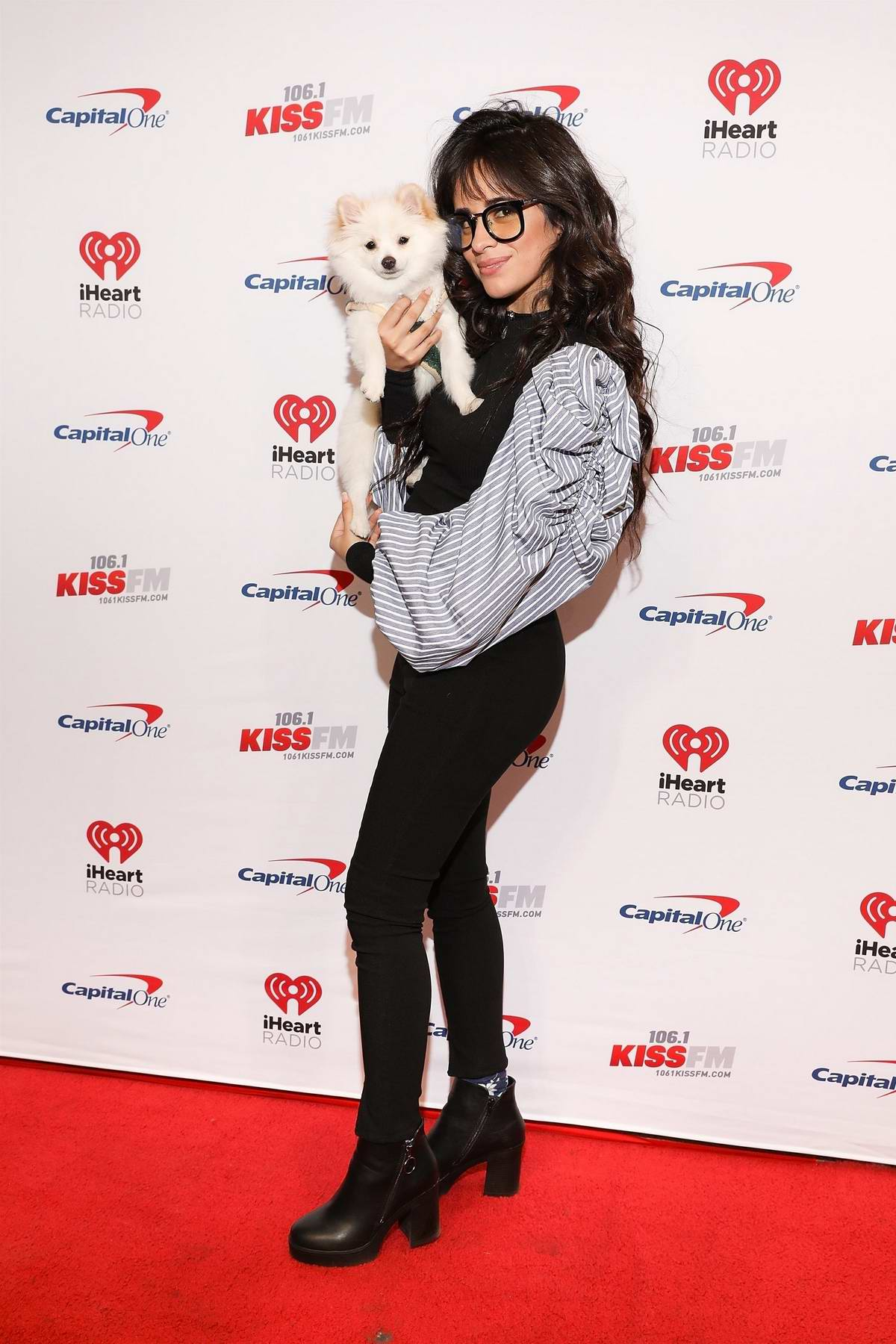 Camila Cabello attends the 106.1 KISS FM's iHeartRadio Jingle Ball at Dickies Arena in Dallas, Texas