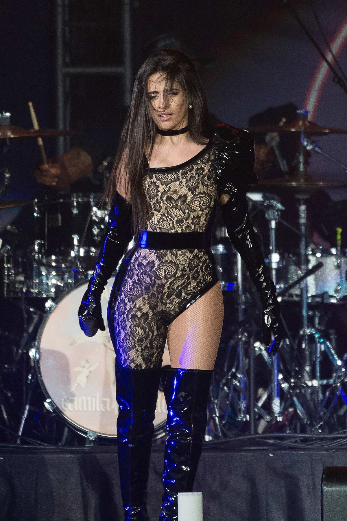 Camila Cabello performs during the B96 Jingle Bash at the Allstate Arena in Chicago, IL