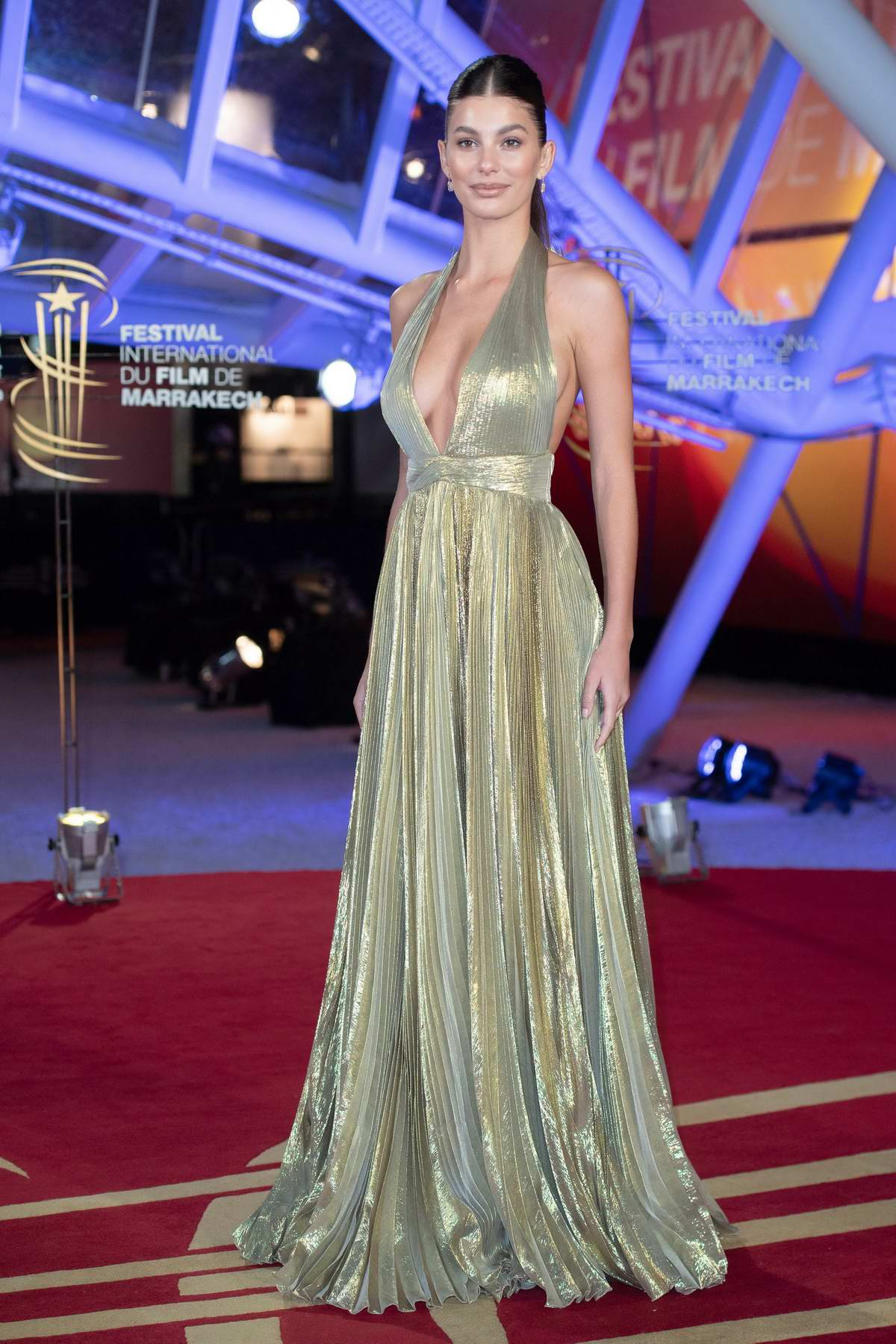 Camila Morrone attends the Tribute to Australian Cinema at the Jemaa El-Fnaa square in Marrakesh, Morocco