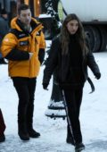 Chantel Jeffries bundles up as she steps out for stroll with a mystery man in Aspen, Colorado