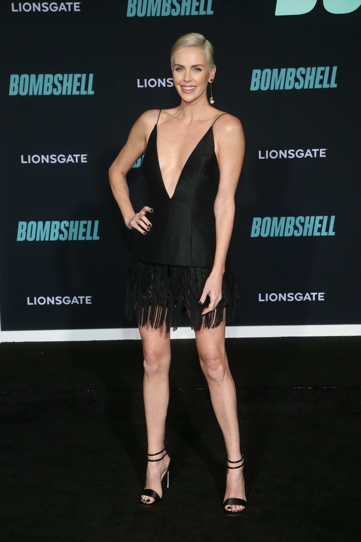 Charlize Theron attends a special screening of Bombshell in Westwood, California