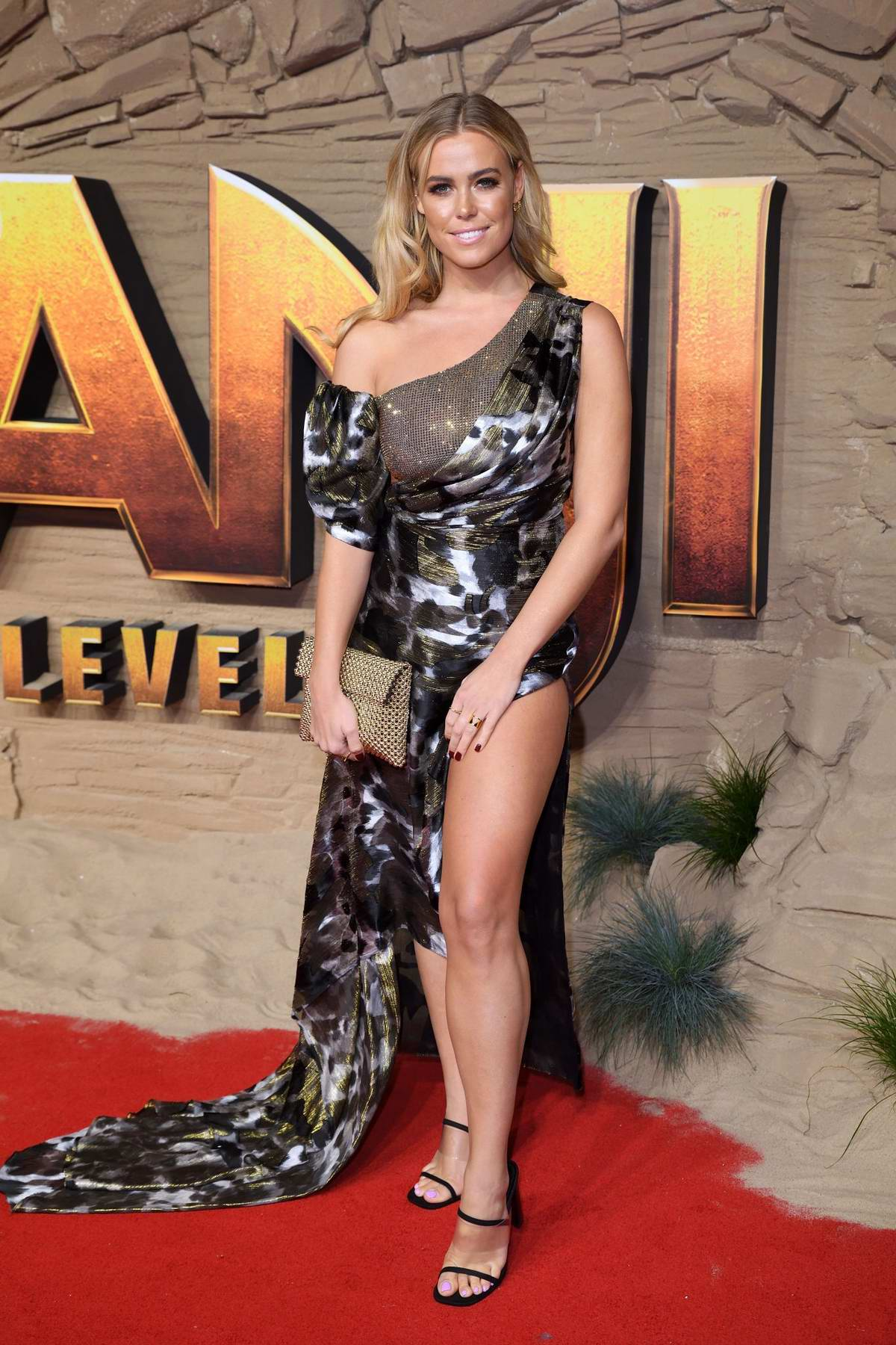 Chloe Meadows attends the Premiere of Jumanji: The Next Level in London, UK